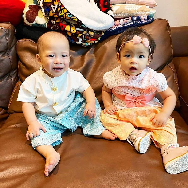 น้องมีก้า น้องมีญ่า ลูกแฝด มาร์กี้ ราศรี จกข้าวเหนียว แซ่บหลาย คนไหนสายอีสานรู้เลย