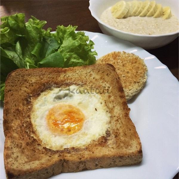 ขนมปังโฮลวีตไข่ดาว