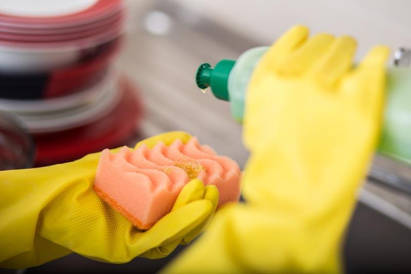 วิธีทำความสะอาดฟองน้ำ