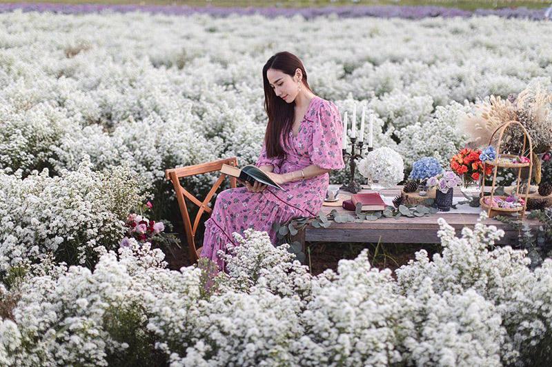 4 นางเอกสาว อั้ม ญาญ่า ใหม่ นาว ท่ามกลางทุ่งดอกไม้เชียงใหม่ งามแบบคูณ 4