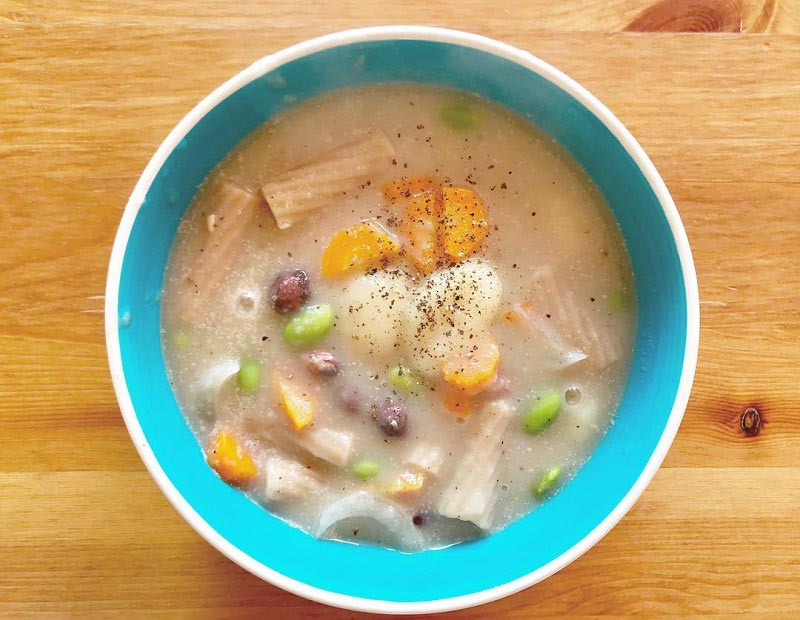 Potato Soup with Various Pasta