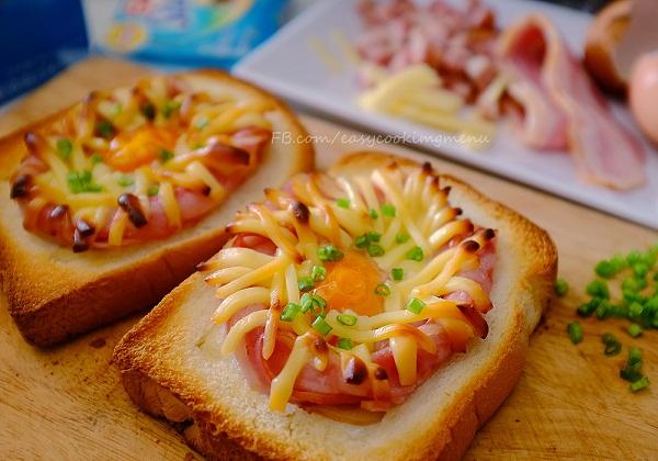 ขนมปังชีสเบคอน