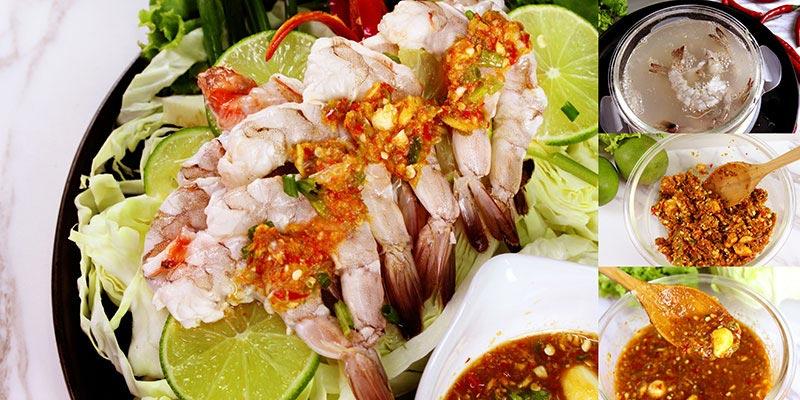 กุ้งมะนาวแช่น้ำปลา