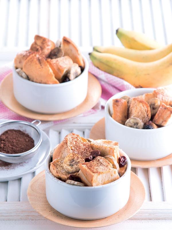 พุดดิ้งขนมปังกรอบกล้วยหอม