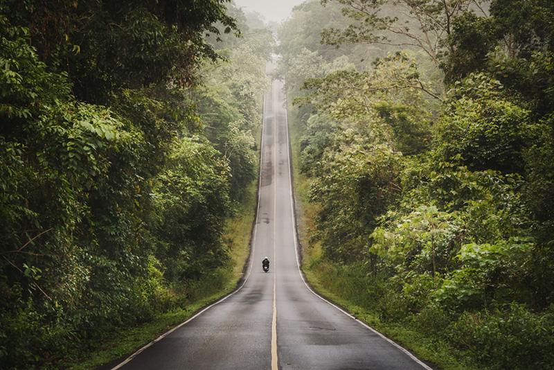 beautiful road in thailand