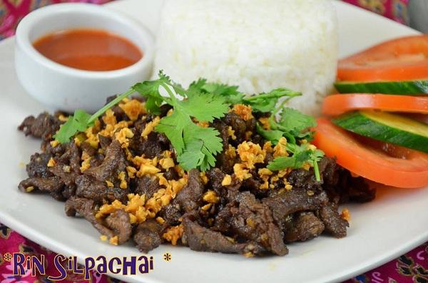 เนื้อทอดกระเทียมพริกไทย