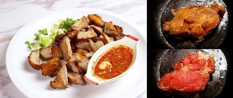 คอหมูย่างพริกไทย