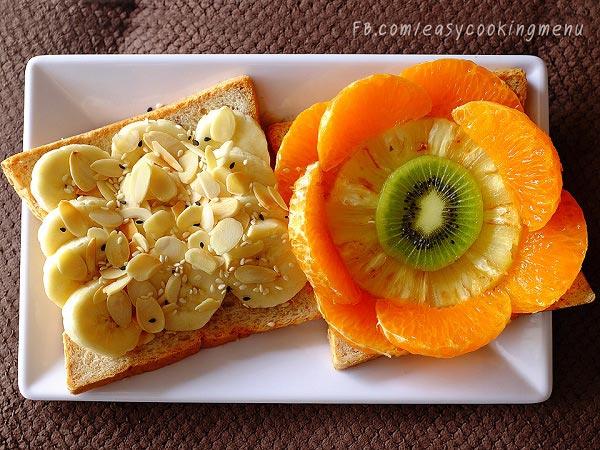แซนด์วิชผลไม้และธัญพืช