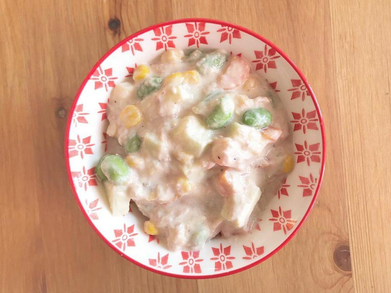 Tuna Corn Salad Healthy Way no Mayo ทูน่าคอร์นสลัดก๊อบปี้เคเอฟซี